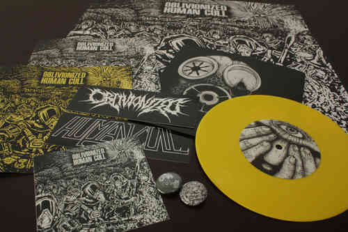 OBLIVIONIZED | HUMAN CULL 'This Septic Isle' Split 7""