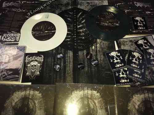 "PLAGUE WIDOW | OBLIVIONIZED 'This Black Earth' Split 7"" colored vinyl"
