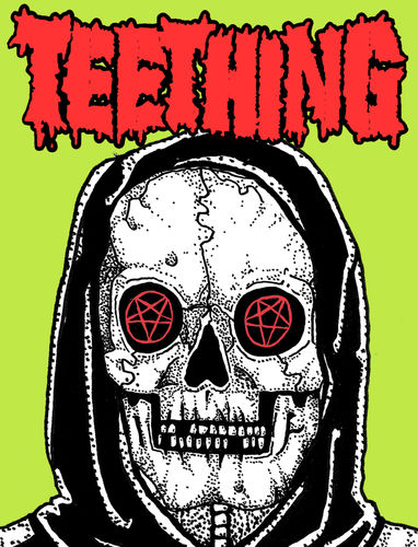 TEETHING 'Skull' Sticker