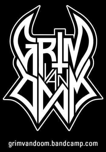 GRIM VAN DOOM Logo Sticker DinA8