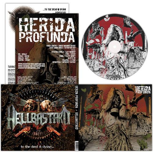 HERIDA PROFUNDA | HELLBASTARD Split DIGI CD