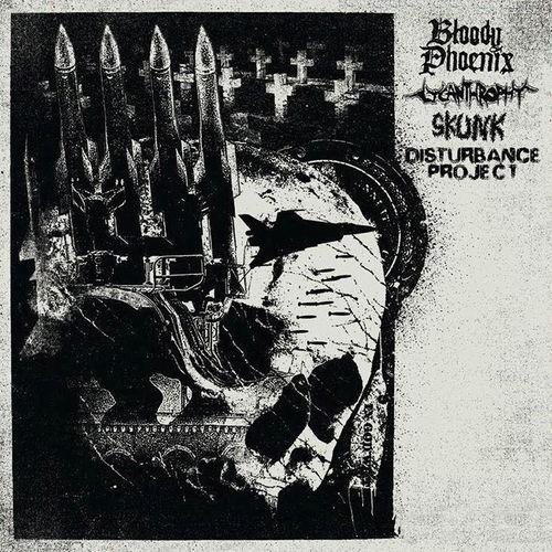 BLOODY PHOENIX | LYCANTHROPHY | SKUNK | DISTURBANCE PROJECT 4-way Split LP