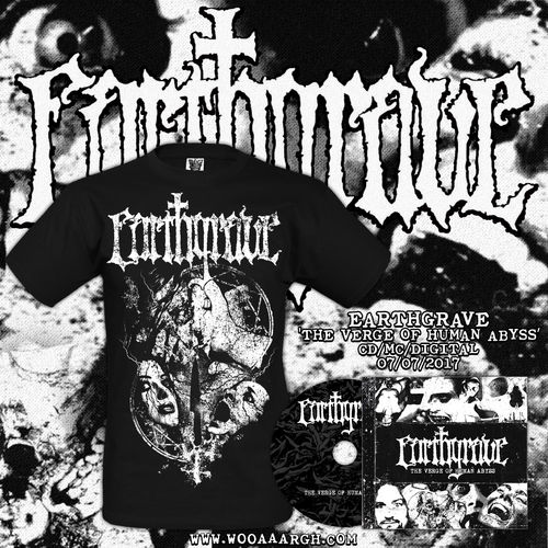 EARTHGRAVE 'The Verge of Human Abyss' CD + T-Shirt Bundle