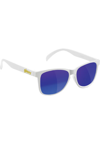 GLASSY SUNHATERS Deric Sunglasses white/blue