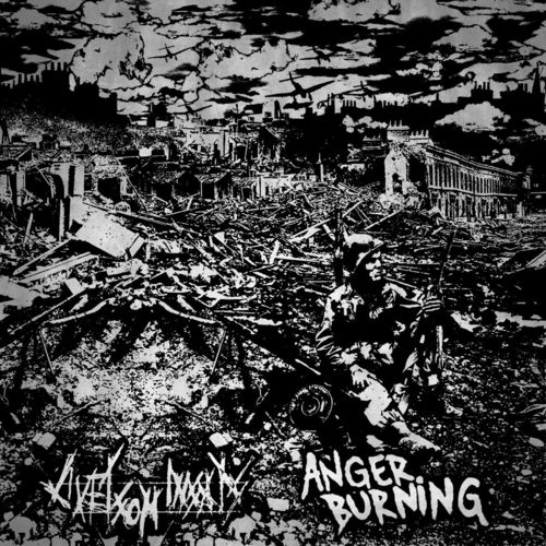 LIVET SOM INSATS | ANGER BURNING Split 7""