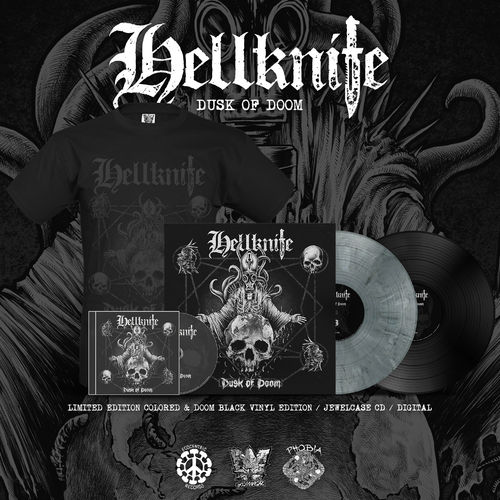 HELLKNIFE 'Dusk Of Doom' Bundle (LP,CD,Shirt)